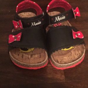 Minnie Mouse sandals toddler size 8